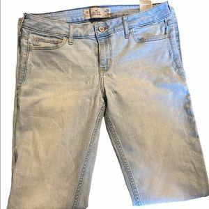 Hollister light blue jeans.